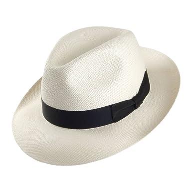 a277c03aec4 Signes Hats Valencia Fedora Panama Hat - Bleach MEDIUM  Amazon.co.uk   Clothing