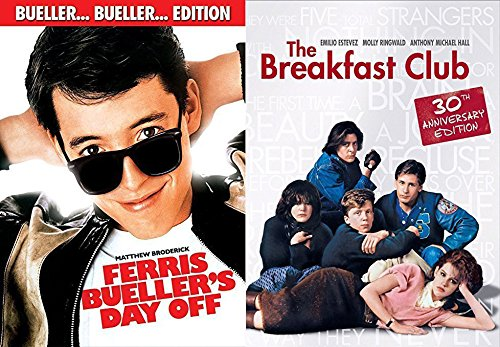 The Breakfast Club & Ferris Bueller's Day Off Fun Comedy 80's High School Teen movie bundle Set