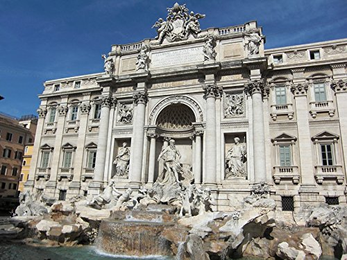 Home Comforts Canvas Print Trevi Fountain Fontana Di Trevi Rome Italy Fountain Stretched Canvas 10 x 14
