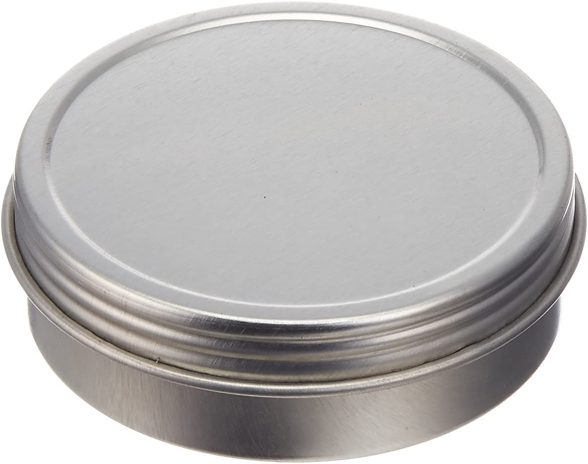 Paper Mart 6518200P Screw Top Round Steel Tins, 2-Ounce, 24-Pack