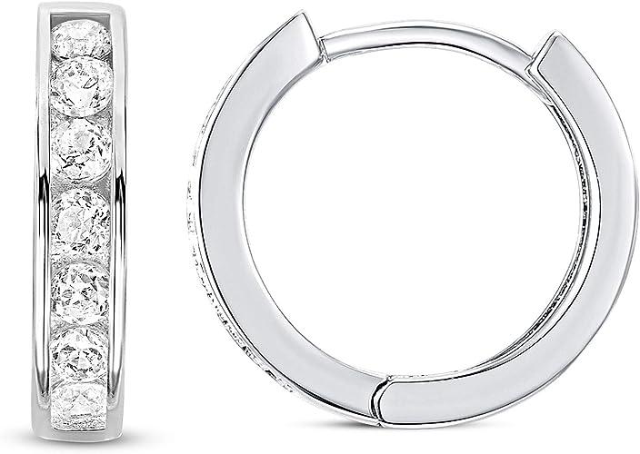 925 Sterling Silver Ear Cuff Tiny CZ Hoop Earrings Huggie Stud Earrings for Girls