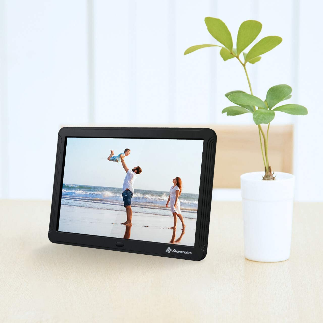 Powerextra 8 inch Digital Photo Frame HD Digital Picture Frame 1280 x 800 Support Thumb USB Drive SD//MMC//MS Card and Photos Auto Rotate