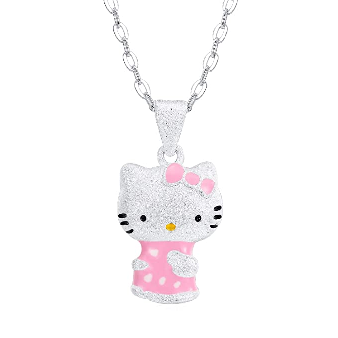 Amazon.com: Collar con colgante de gato rosa UUONLY Kitty ...