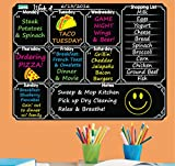 Everase Re-Stic Dry Erase Self-Adhesive Peel & Stick Blackboard Meal Planner | Weekly To Do List (12 x 16 in.) FREE Marker & Cloth | Menu/Diet/Fitness Shopping List | Premium Quality Removable Decal