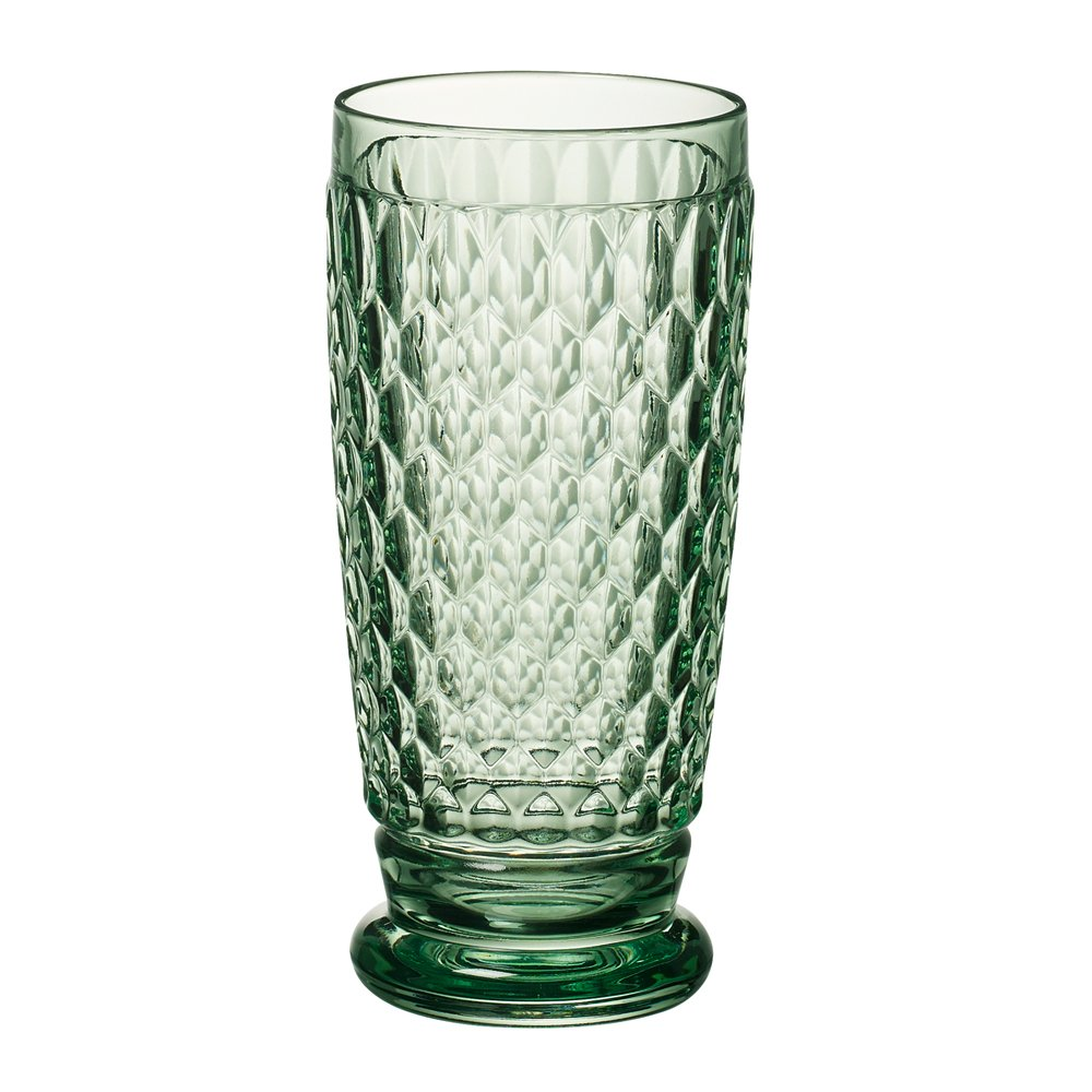 Villeroy & Boch Boston Green Crystal Highball Glasses, Set of 4