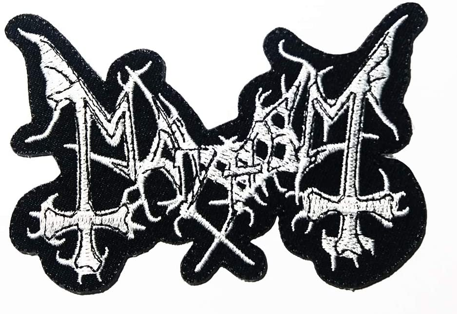 Music M American Metal Band Music Logo Patch Embroidered Sew Iron On Patches Badge Bags Hat Jeans Shoes T-Shirt Applique