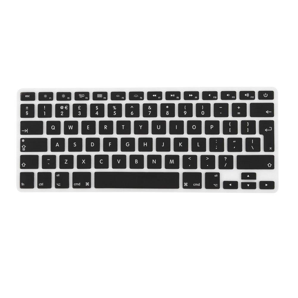 GENORTH® Silicone Protecteur Mince Couvre Clavier Universel pour UK ou EU MacBook Air 13'' et MacBook Pro 15'' avec la Rétine Afficher (Silicium Keyboard Protector Universel, Noir) Dongguan siyan SC002