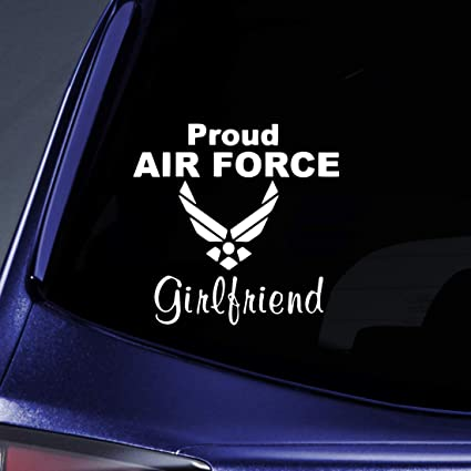 47446c02932be Bargain Max Decals - Air Force Girlfriend Sticker Decal Notebook Car Laptop  6