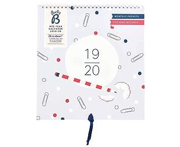 Calendario de mediados de año 2019-20 Busy B: con bolsillos ...