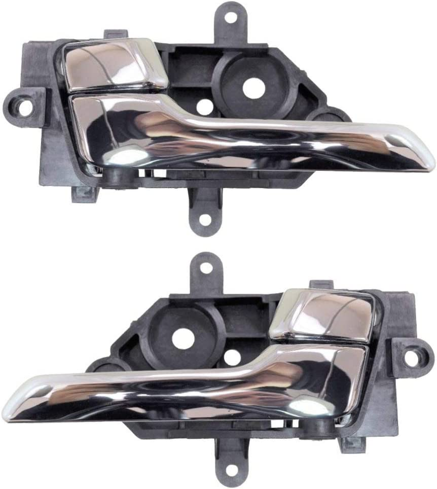 Chrome Interior Inner Inside Door Handle Front Left//Right Pair PT Auto Warehouse IN-2137M-FP