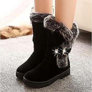 Amazon.com : HSXZ Women's Shoes PU Winter Fall Snow Boots