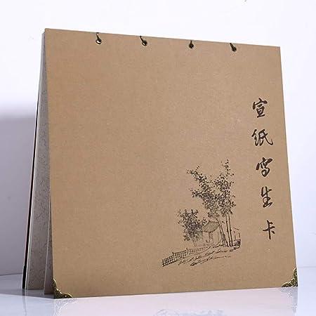 Qjiang Livre Dessin Chanvre Blanc Cahier Croquis Papier Riz
