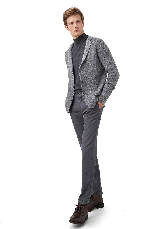 MANGO MAN - Lapel wool-blend cardigan