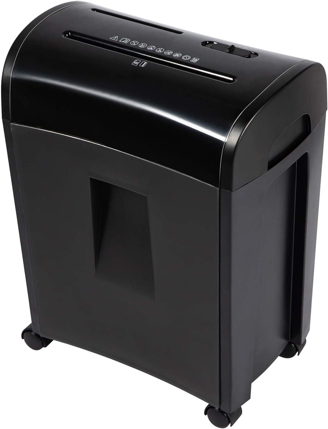 Zoomyo 10-Sheet Cross-Cut Paper, CD and Credit Card Home Office Shredder, P-4 High Security Shredders with 3.6 Gallons Wastebasket, Separated CD Container, Black