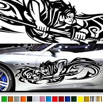 Amazoncom Samurai Car Sticker Car Vinyl Side Graphics Car - Car sticker decals custom