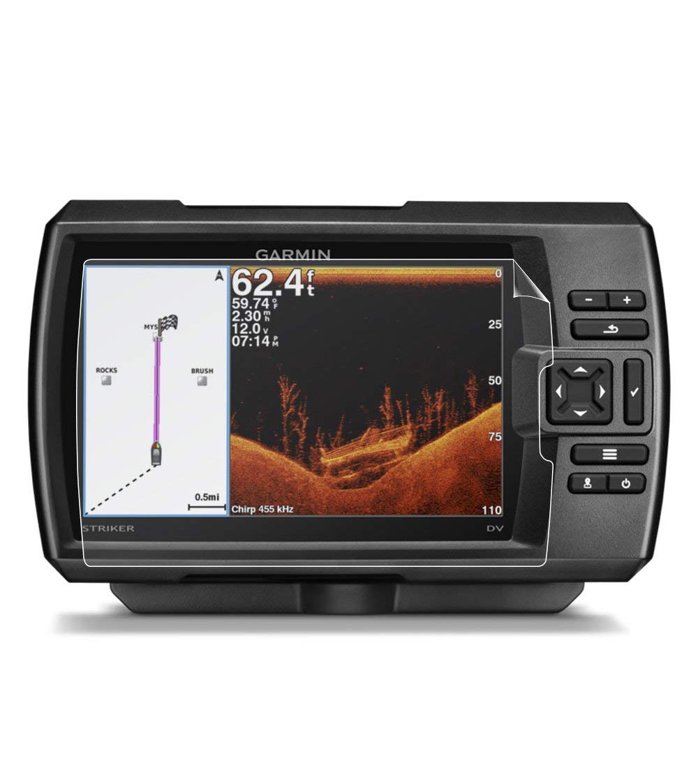 Compatible with Anti Glare Free IPG Phone Guard Garmin Striker 7 DV FISHFINDER GPS 7 IPG Invisible Film Screen Protector Guard Cover Free Lifetime Replacement Warranty Bubble