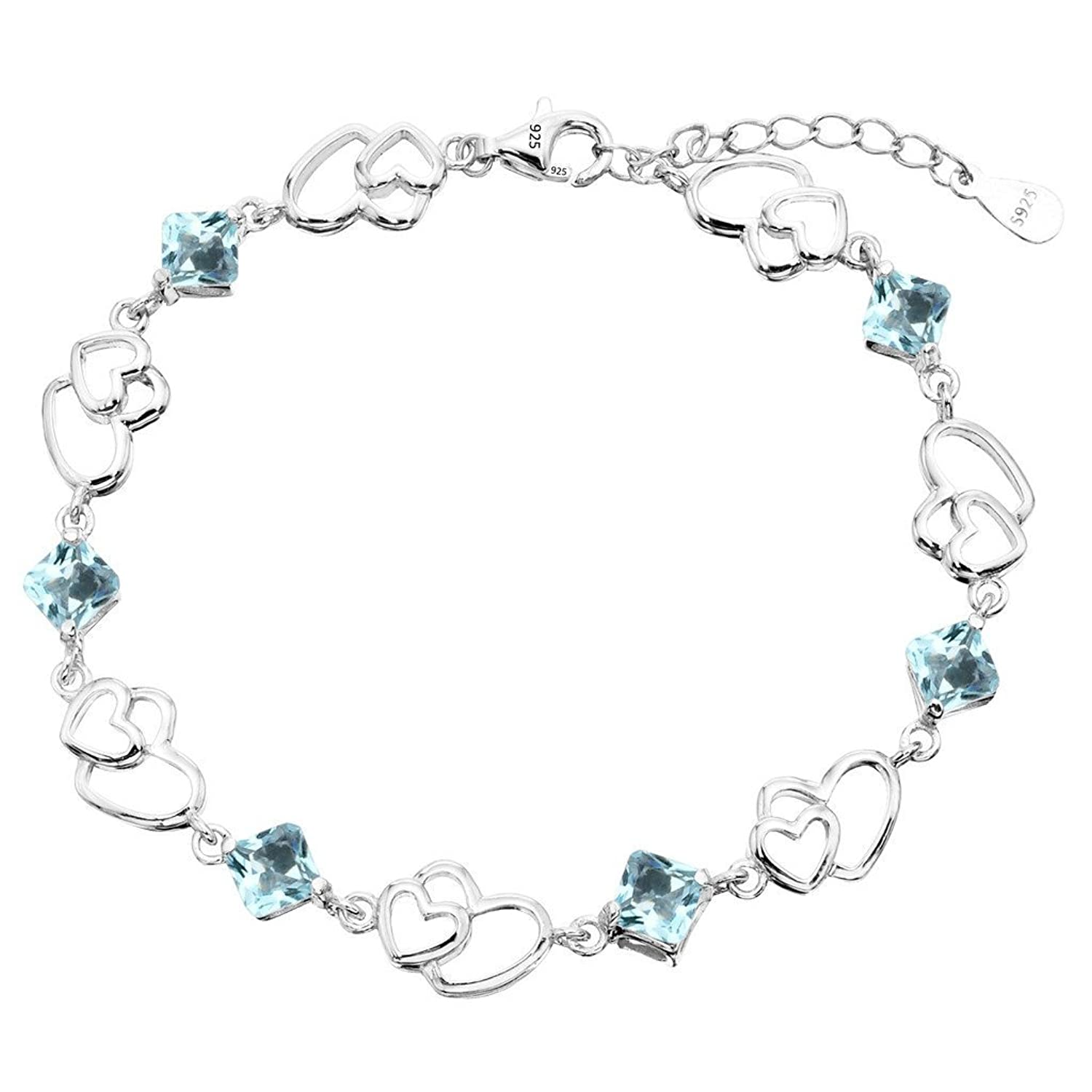 Best Birthday Gift Leslies Sterling Silver CZ Polished Bracelet