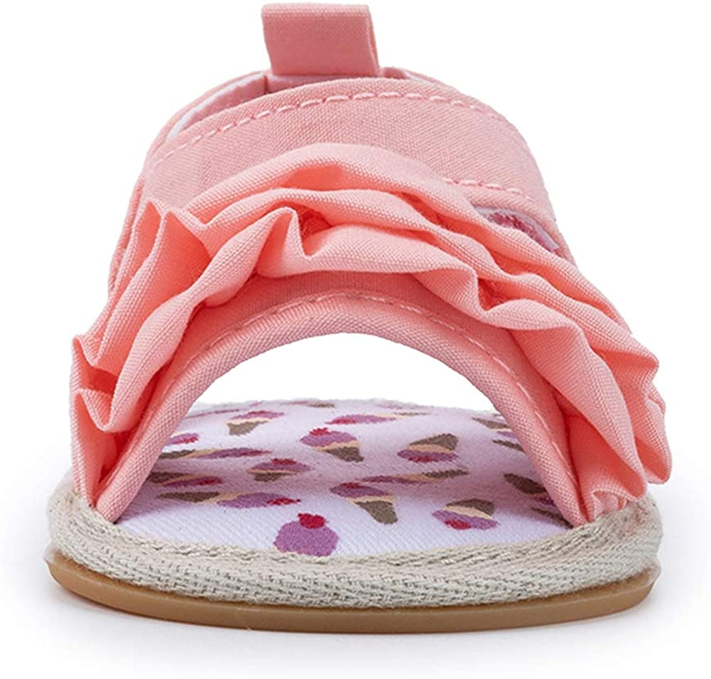 Mybbay Infant Baby Girls Sandals Rubber Soft Sole Summer Sweet Princess Dress Bowknot First Walker Shoes