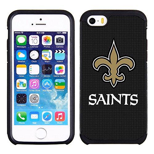 extured Case with Team Color Design for Apple iPhone SE / 5s / 5 - NFL Licensed New Orleans Saints ()