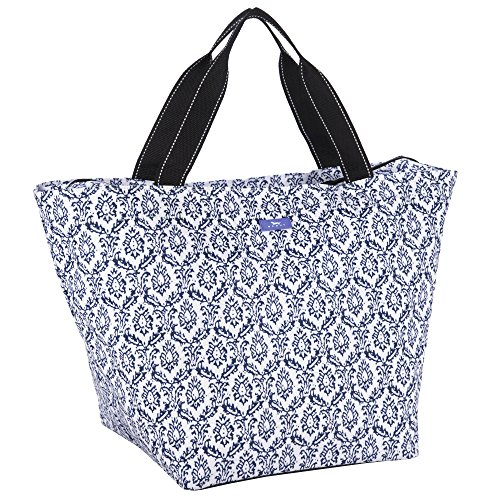 SCOUT Weekender Travel Tote Carry On Bag, Internal Zippered Pouch, Water Resistant, Zips Closed, The Blue Hour