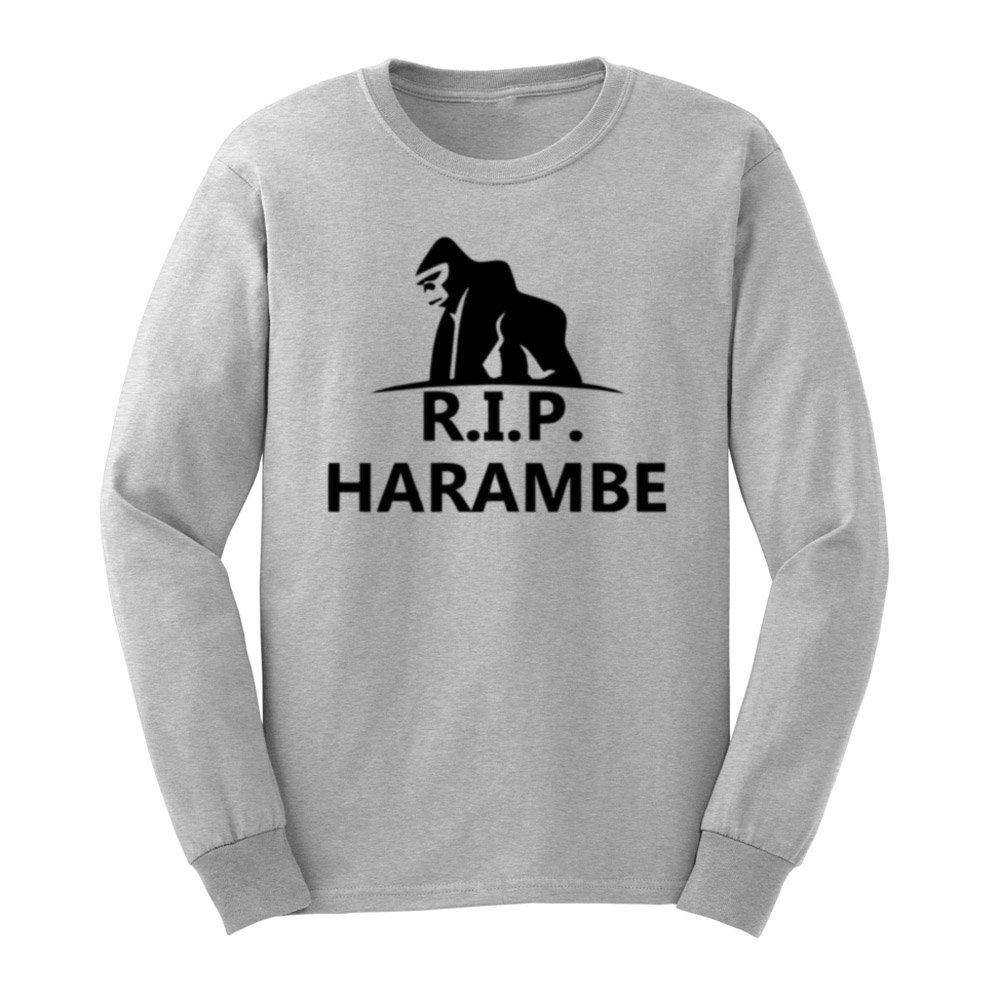 Loo Show S Rip Harambe Cincinnati Zoo T Shirts Casual Tee