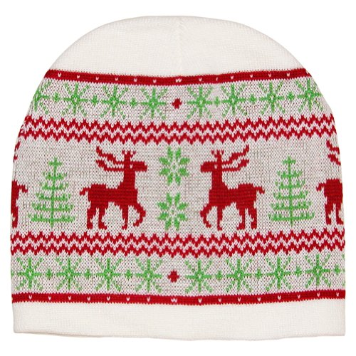 Ugly Sweater Style Nordic Moose Beanie Hat