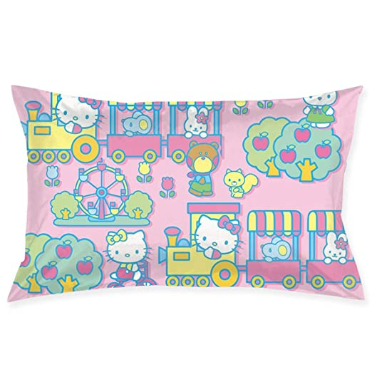 CHLING Fundas de Almohada con diseño de Hello Kitty con Tren ...