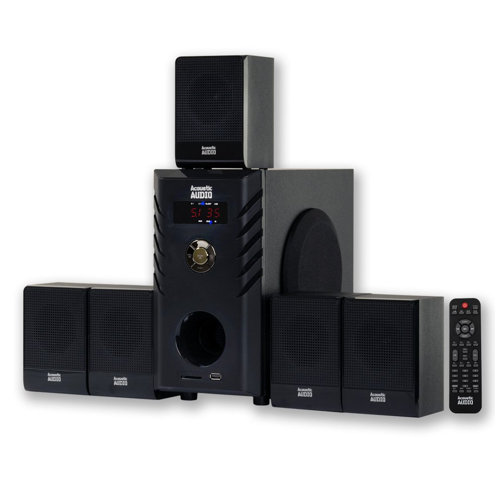 Acoustic Audio Aa5104 600 Watt 51 Home Theater Surround How To Install System Sound Speaker
