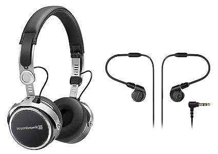 889cac4ea55 Amazon.com: Beyerdynamic Aventho Wireless Black Bluetooth Headphones+Audio  Technica Monitors: Musical Instruments