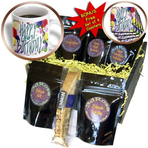 Florene Special Events - Happy 50th Birthday.png - Coffee Gift Baskets - Coffee Gift Basket (cgb_52359_1)