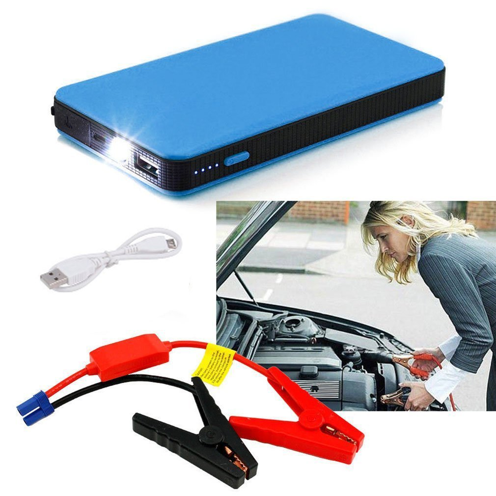 Kingsea 12V 20000mAh Multifunctional Car Jump Starter Power Booster Battery Charger Blue