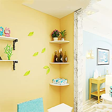 Amazon.com: PM-Borders Bedroom Wall Corner Shelf Corner ...