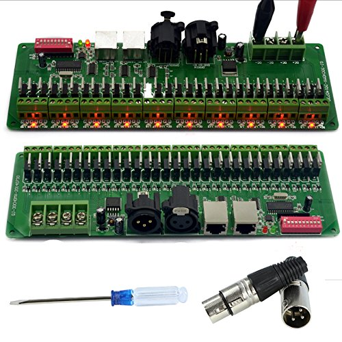 30 Channel DMX LED Decoder Controller for RGB LED Strip Light DMX512 Dimmer Driver DC9-24V 2A/CH - Rgb Led Dmx Controller