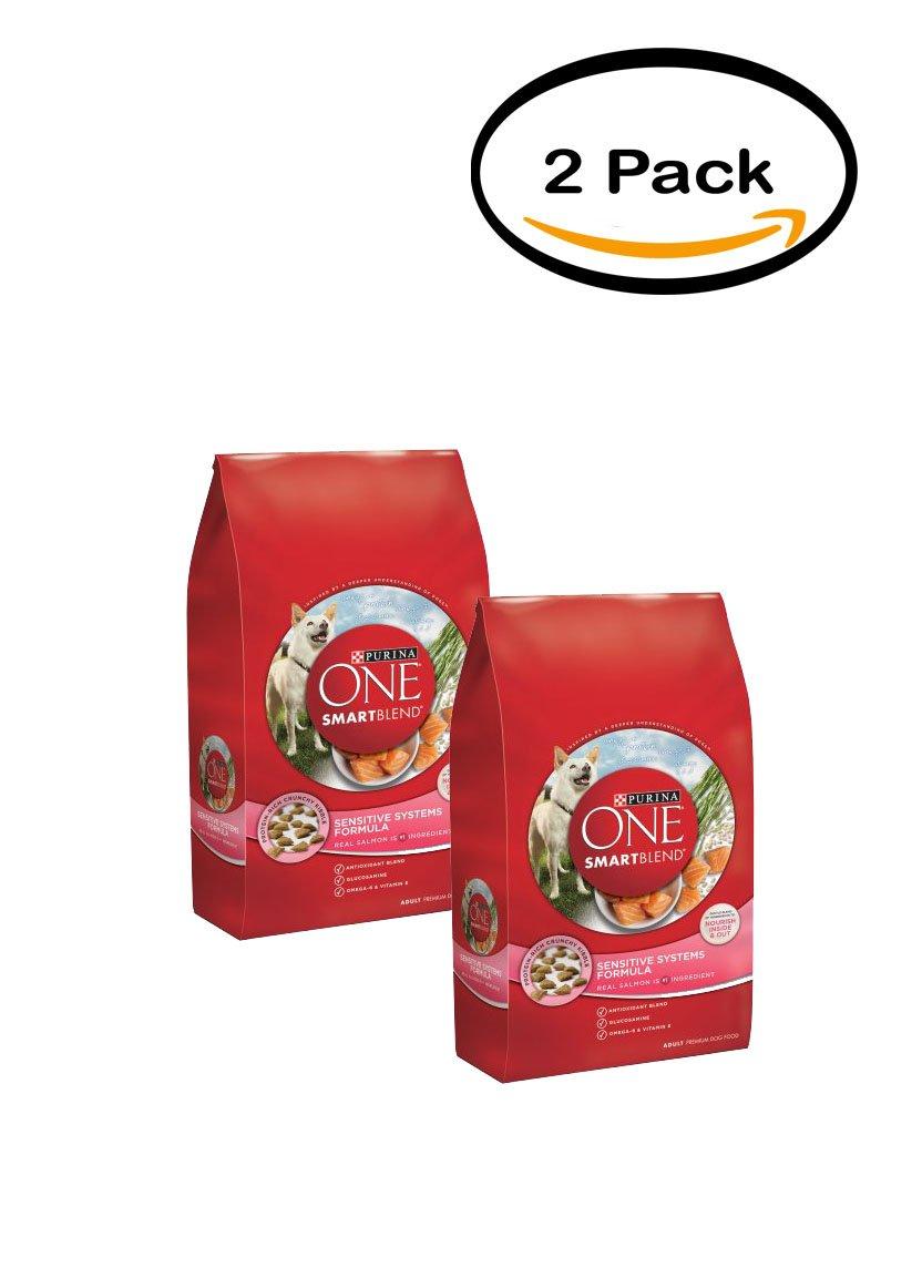 PACK OF 2 - Purina ONE SmartBlend Sensitive Systems Formula Adult Premium Dog Food 31.1 lb. Bag