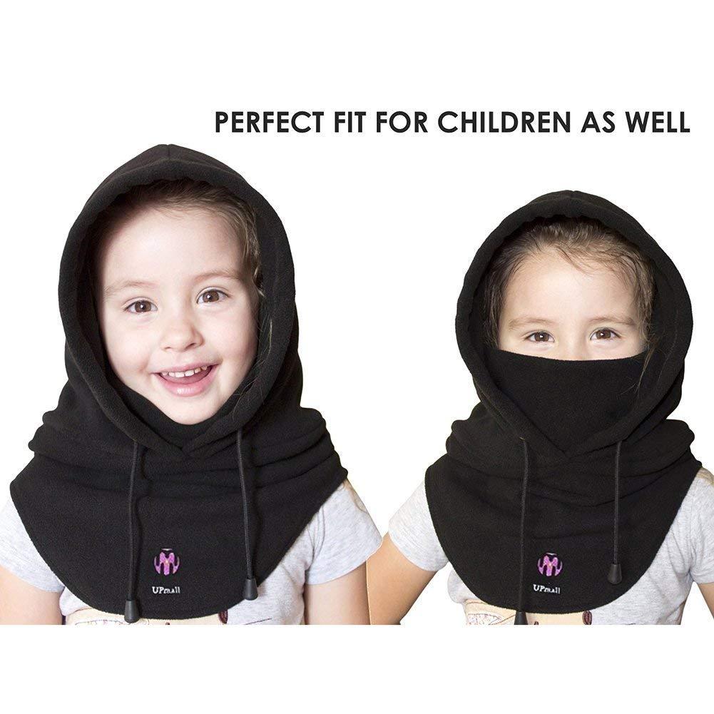 Cara Completa UPmall Balaclava Exterior con Capucha Negro a Prueba de Viento para Deportes de Invierno para Hombres//Mujeres // Ni/ños