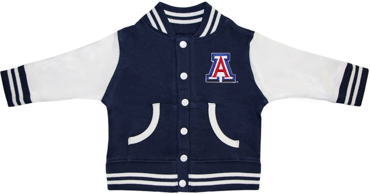 University of Arizona Block A Varsity Jacket Navy by Creative Knitwear