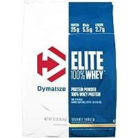 Dymatize Elite 乳清蛋白,草莓口味,美味香浓,10磅(约4.54公斤)