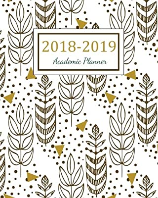 2018 2019 academic planner 2018 2019 two year planner daily weekly and monthly calendar agenda schedule organizer logbook and journal notebook 24
