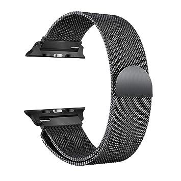 Pinhen Apple Watch Correa Serie 1 2 Cerradura Imán Único Correa de Acero Inoxidable Reemplazo de