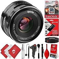 Opteka 35mm f/1.7 Prime Lens for Canon EF-M Mount APS-C Digital SLR Cameras M100 M10 M6 M5 M3 M2 Plus Bonus 16GB 12PC Bundle