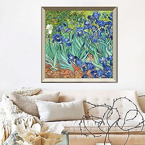 Amazon Com Patined Van Gogh Iris Flower Original Bedroom Bedside