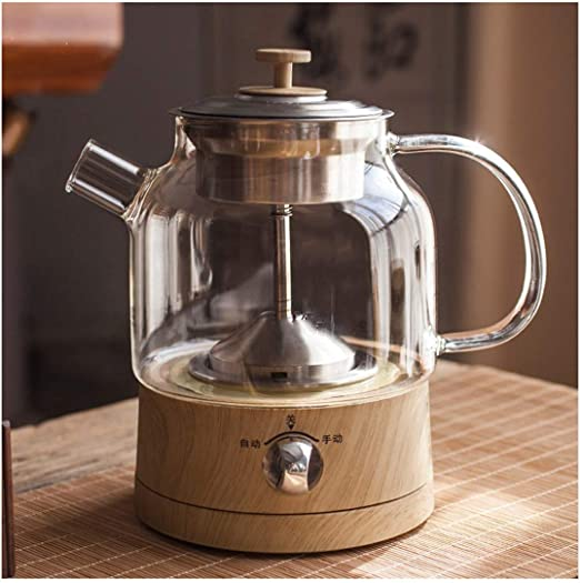 JKSH-kettle Tetera Caldera eléctrica de Cristal, Vapor Wireless ...