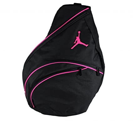 606139cbb57 Amazon.com: Nike Jordan Jumpman 23 Sling Backpack Black Pink: Sports &  Outdoors