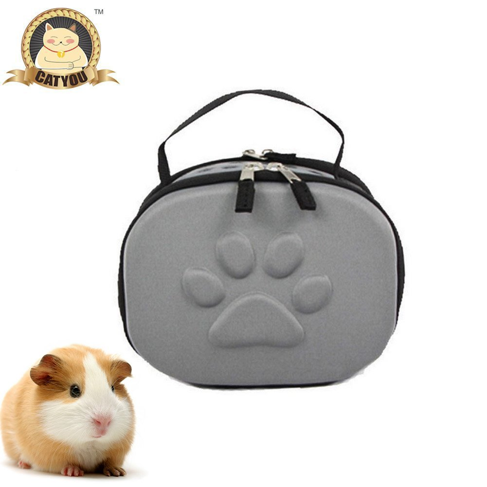 CatYou Hamster Come Along Small Animals Carrier, 2 Colors (Gray)