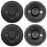 (4) Hifonics ZS65CXS 6.5' 1200 Watt Shallow Mount Car Stereo Speakers