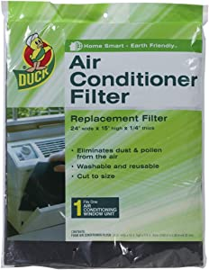Duck Brand Replacement Air Conditioner Foam Filter, 24-Inch x 15-Inch x 1/4-Inch, 1285234 - SET OF 2