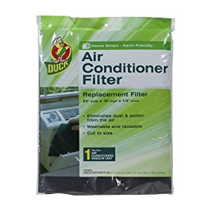 "Air Conditioner Filter Replacement 24"" wide x 15"" high x 1/4"" thick- 2 Packs"