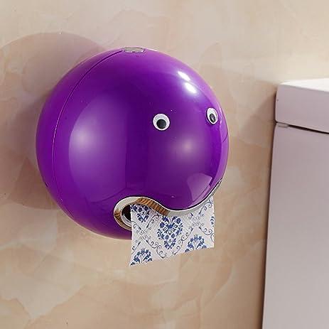 Facial Tissue Box Ball Shaped Cute Emoji Bathroom Toilet Waterproof Paper Roll Holder