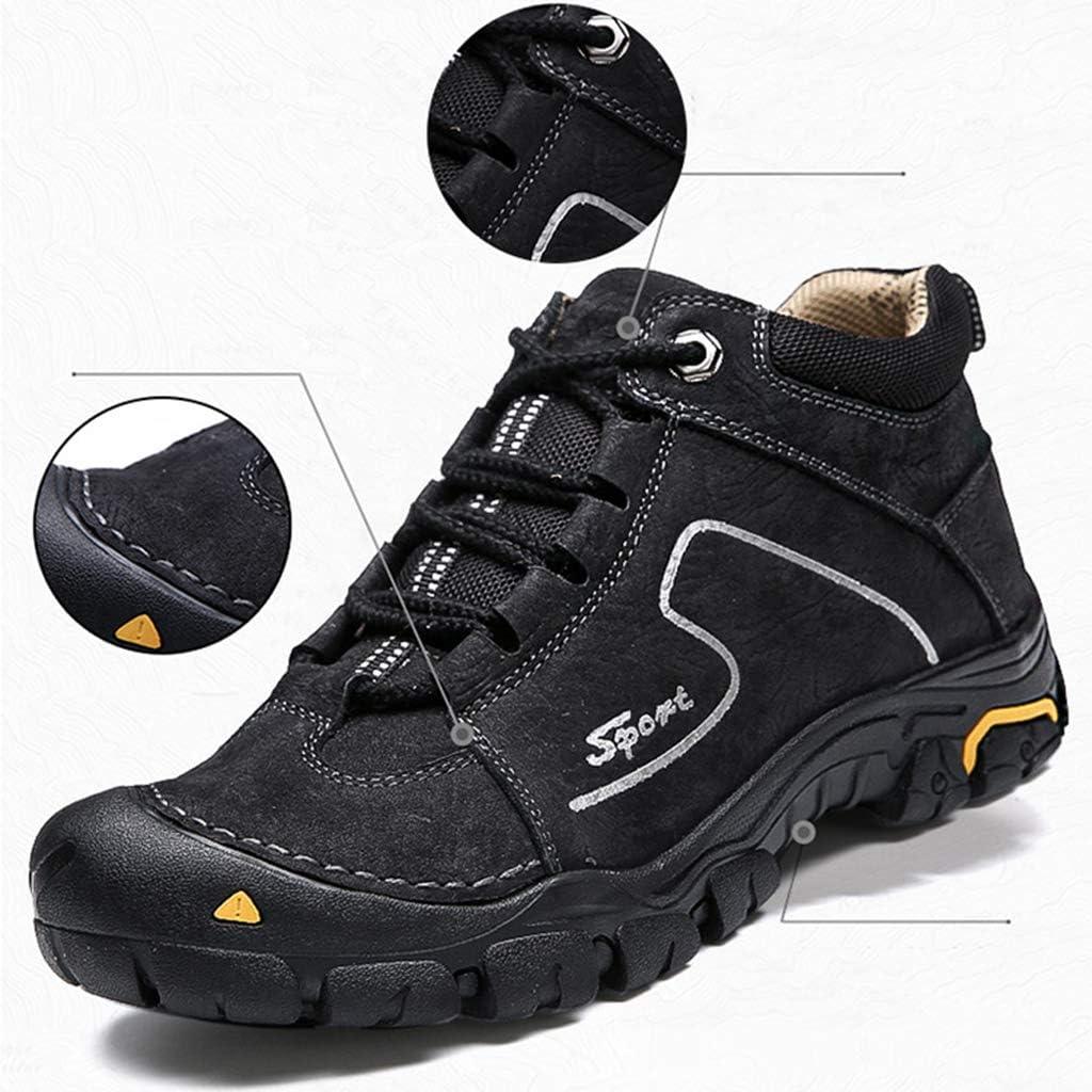 AEMUT Botas de Moto para Hombre Botas de Ciclista Zapatillas Negras de Cuero para Moto a Prueba de Agua para Adultos Invierno,Brown-39: Amazon.es: Deportes y aire libre