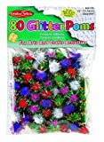 """Charles Leonard Pom-Poms - 1/2"""" - Glitter Assorted - 80/Bag, 69180"""
